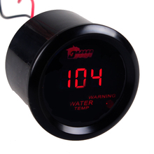 "EE support  2"" 52mm Black Shell Car Motor Digital Red LED Water Temp Gauge F  Fahrenheit Meters XY01"