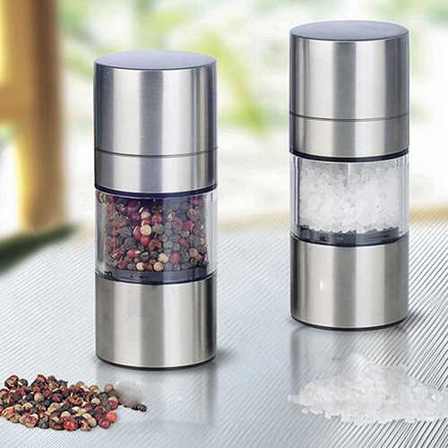 Manual Pepper Mill Stainless Steel Manual Salt Pepper Mill Grinder Portable Muller Tool Kitchen Gadgets Spice Sauce Grinder
