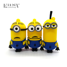 New Easy Learning Cartoon Pen Drive Minion USB Flash Drive Hot Sale Flash Card Pendrives 4GB 8GB 16GB 32GB 64GB USB 2.0 Stick