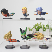 6pcs/set Anime Dragon Ball 30th Vol 3 Pvc Action Figure goku gohan cell Android 18 Trunks Collection model Toys