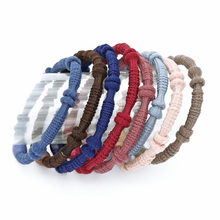 8 Pcs/Lot Women Beads Hair Band Rope Tie Gum Headwear Scrunchie Ponytail Holder Elastic Hair Accessories Headbands