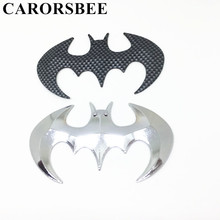 Buy CARORSBEE 3D Cool Metal Silver carbon fiber bat auto logo car styling stickers batman badge emblem decal motorcycle accessories for $1.22 in AliExpress store