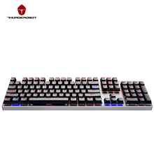 ThundeRobot Black K70 Gaming mechanical keyboard 104 Keys 2 Color Breathing LED Light Aluminium alloy Body Waterproof(China)