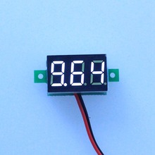 10PCS/LOT White Led display color DC3-30V car digital volt voltage panel meter gauge auto voltmeter battery monitor B0014-10(China)