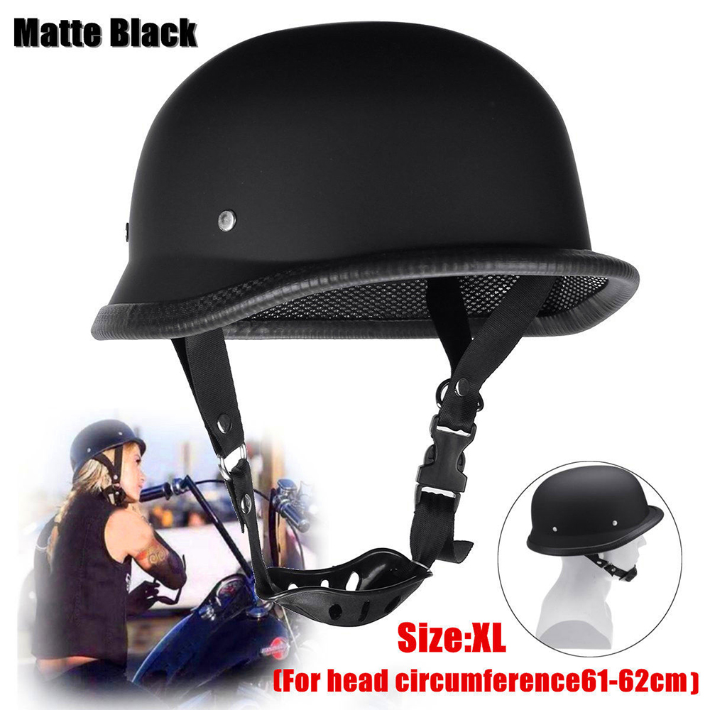 3 Sizes Lightweight DOT Motorcycle Helmet M/L/XL German Style Half Open Face Helmets FOR Motocross Bike