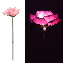 2017 LED  Simulat Rose Night Light Lamp 36cm Height Voice Concert