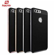 hacrin Huawei Honor 8 Case TPU Silicon Hybrid + PC Dual Layer Frame Back Cover Protective Case For Huawei Honor 8 Mobile Phone(China)