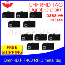 UHF RFID metal tag omni-ID Fit400 915m 868mhz Alien Higgs3 EPC 100pcs free shipping durable paint smart card passive RFID tags(China)