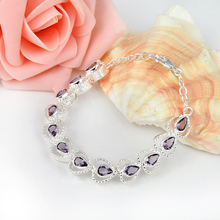 ENYA 2017 Russia USA Hot Sell Style Romantic Synthetic Crystal Bracelet for Women Jewelry Best Gift Bijoux B0063