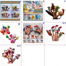 Variety optional Plush Finger Puppets Stuffed Doll Baby Kids Students Educational Hand Cartoon Animals Soft Toy