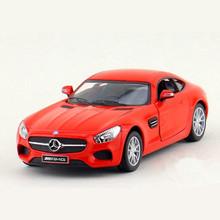 1:36 KINSMART Simulation AMG GT Car Toy, Miniature Pull Back Die cast Metal Cars Model For Collection, Kids Toys, Brinquedos