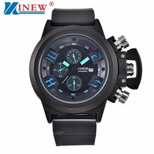 Brand Silica Watches Mens Relogio Masulino 2017 XINEW Luxury Military Sports Clock Men Chronograph Analog Quartz Wrist Watch #N