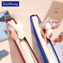 14 PCS Creative Butterfly Bookmarks Cartoon Book Marks Paper Clip Office School Gifts(China)