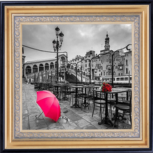 Diamond Embroidery Landscape Home Decoration Painting Picture Of Rhinestones Paris Red Rose Pictures By Numbers Needlework