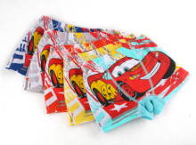 2Pcs/lot Baby Boys Boxer Kids Underwear Cotton Panties Cartoon Car Printed Underpants Calcinhas Infantis 3-11T