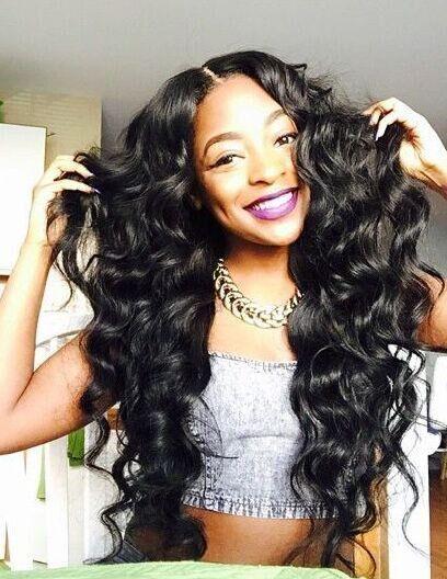 Rose Beauty Hot sale sexy Celebrity wavy Synthetic wigs silk full body wave Hair Wig 3colors pelucas black women full wigs<br><br>Aliexpress