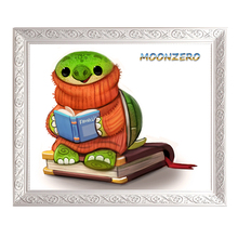 diamond painting cross stitch full rhinestones embroidery europe wall decoration square drill picture reading turtle handcraft(China)