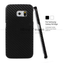 Fashion Ultra Slim Back Cover for Samsung Galaxy S6 edge G925 Case Carbon Fiber Hard Plastic Phone Shell + Valid Tracking Number(China)