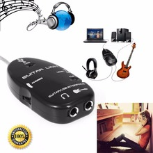 6.3mm Jack to USB Guitar Link Cable Adapter Guitar to PC MAC Recording Playback