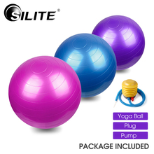 Yoga Ball Fitness Fitball Yoga Pilates Ball Gym Massage Balance Ball 65cm Proof 3 Colors Training Plug Pump PVC Thicken Bolas