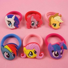 2pcs/lot Cartoon My Little Ponys Hair Clip for girl Children Hair Accessories Clip Hair Pins Girls Hairpins Kids(China)