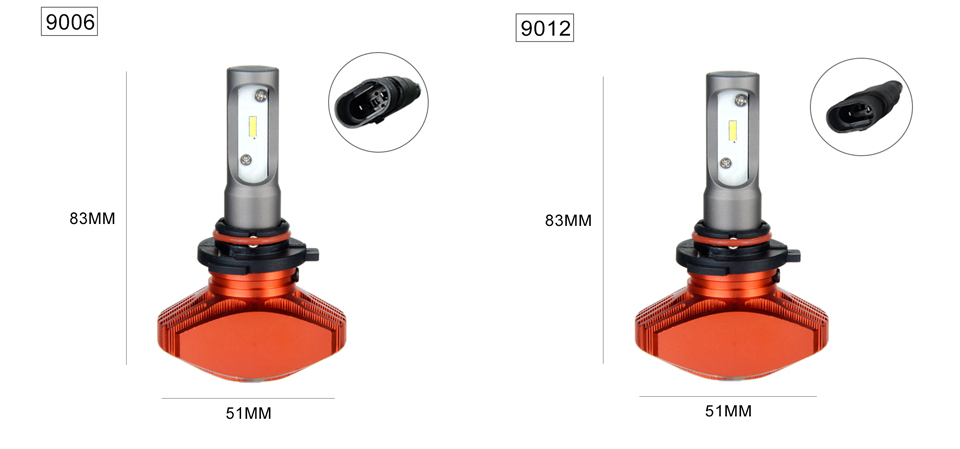 Zdatt AcooSun H4 Led Car Fanless Bulb H7 Led Auto headlight H1 H11 Fog Lamp 6500K DC12V 9006 Led CSP Chips 80Wset 9005 LED Auto Light (11)