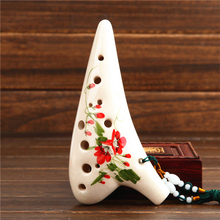 12 Holes Alto C Key  Ocarina Flute AC Ocarina Handmade Zelda Ocarina Crack Colored Drawing 12 Hole Ocarina Folk Music Instrument