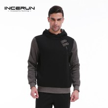 INCERUN Winter Men's Fleece Lined Hoodies Pullover 2017 Men Hooded Sweatshirt Casual Sportswear Sweats Coat Male Hoody Jumper(China)