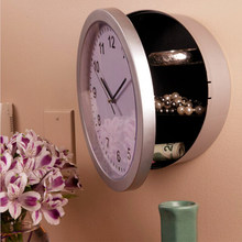 1PCS Novelty Safety Box Working wall clock Hidden Wall Mountable Clock Hides  Hinged design Safe Wall Clocks