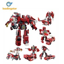 5 in 1 Alloy Deformation Robot City Defender Distortion Toy Christmas Gifts for Boys zk30(China)