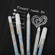 White Ink Color Photo Album 0.8MM Gel Pen Cute Pen Gift For Kids Stationery Office Learning School Supplies Escolar Papelaria
