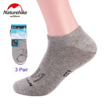 Naturehike 3 Pairs Men Summer Quick Dry Breathable Bike Cycling Sports Socks Road Hiking Walking Sock Slippers For Baseball