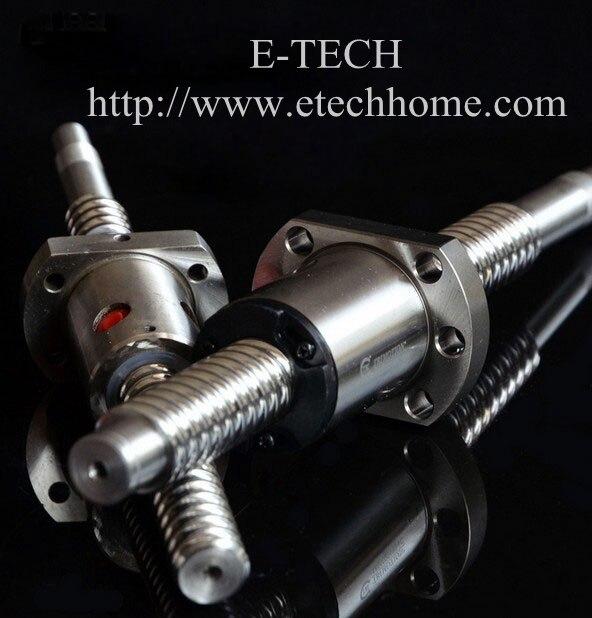 2Pcs/Lot! 16mm Dia Ball screw SFU1604 set : ballscrew SFU1604 L250mm+SFU1604 Ball Nut Without End Machined<br>