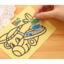 TOFOCO 5pcs/lot Sand Painting Children Kids Drawing Toys Pictures Kid DIY Crafts Education Toy for boys and girls GYH