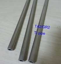DIY material, 6mm/8mm/10mm Ta2 Titanium Pipe Industry Experiment Research DIY GR2 Small Ti Tube, about 300 mm/pc 3pcs/lot(China)