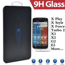 For Motorola Moto X Style Play Pro Force Droid Turbo 2 XT1581 G2 G3 X2 Screen Protector Guard Tempered Glass Retail Pack Box