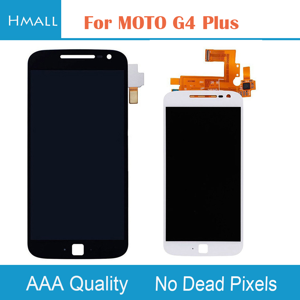 For Motorola Moto G4 Plus LCD Display Touch Screen Digitizer with Frame Assembly Replacement Black/White For MOTO G4Plus LCD<br>