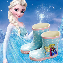 girls rain Boots baby todder adorable girls fashion boot non slip water shoe Sapato Elsa cartoon waterproof snow shoes 1-12years