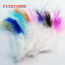Cheap for Sale 24pcs/lot Soft Fluffy Marabou Feathers Hair Extensions Villus for Wedding Decorations Elegant Party Supplies IF64(China)