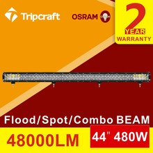 Super power 44inch 480W led light bar  ip67 offroad heavy duty for Truck Trailer ATV use auto driving lamp Spot/Flood/Combo