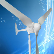 1KW Wind Turbine with 3PCS Blades, 1000W 48V Wind Generator, 2.5M/S Start Up Wind Speed, CE Approved + 3 Years Warranty
