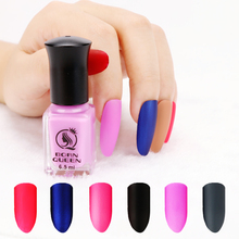 1 Bottle BORN QUEEN Matte Dull Nail Polish Fast Dry Long-lasting Nail Art Varnish Lacquer Black White Pink Nail Color