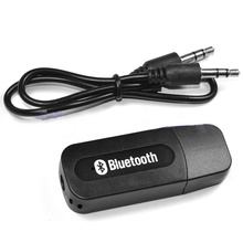New Bluetooth 2.1 + EDR Car Kit Receiver Adapter Stereo Music Wireless Speakers Audio Receptor usb Car 3.5mm aux Jack For Smartp(China)