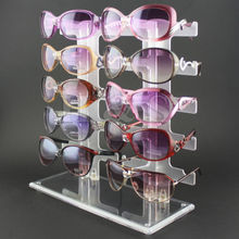 Durable 10 Pair Acrylic Sunglasses Glasses Retail Shop Display Unit Stand Holder Case
