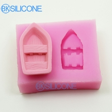 Boat Moulds Cake Decorating Tools Silicone Mold Boat Ship 3D AO012(China)