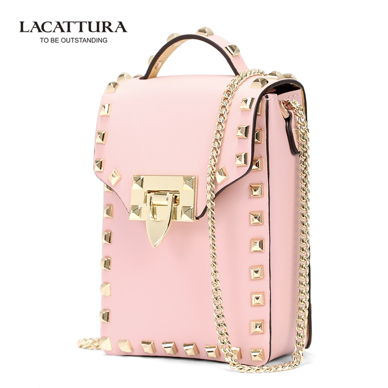A1315 2017rivet evening bag womens banquet bag day clutch for iphone female candy color Small Cross Body Bags Cell Phone pink<br>