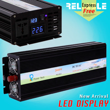 Digital LED Display 2000w 12v 220v off grid dc to ac converter pure sine wave power inverter solar power generator home inverter