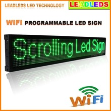 40x6.3 Inches Smart Phone Control Wifi Programmable LED Scrolling Message Sign Board for Advertising Store Led Display(China)