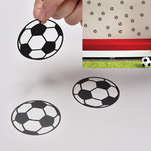 JETTING Wholesale PC Mobile Phone Stickers Decor Laptop Skin 20pcs Kawaii Decoration Stickers Flakes Football Soccer Stickers(China)