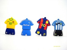 Barcelona soccer Jersey Barca Messi pendrive usb flash drive 4GB 8GB 16GB 32GB football pen drive gift(China)